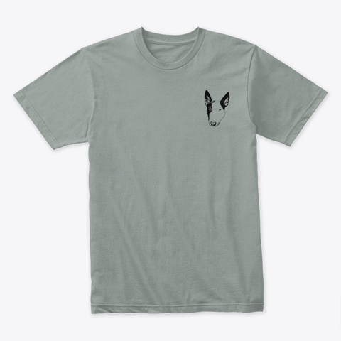 Bull Terrier Line Art Warm Grey T-Shirt Front
