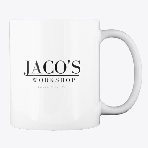Jaco's Coffee Mug White T-Shirt Back