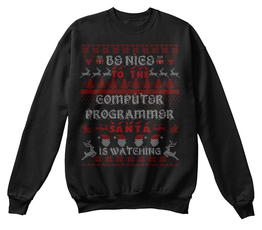 Noël de Be programmeur facile Chandail pour Confortable shirt Sweat d'entretien 5pwxSSZq