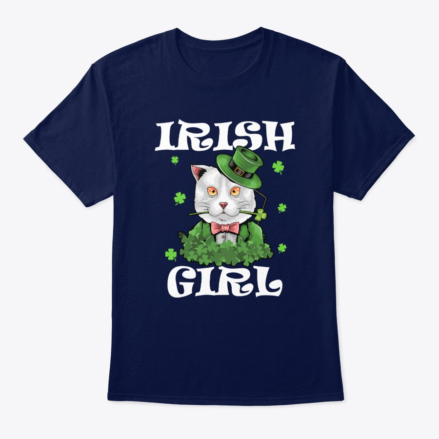 St Patricks Day – Irish Cat Girl Shirt – Sweatshirt Royal Size M
