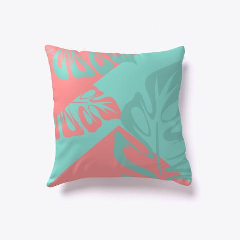Pink Turquoise Flamingo Pillow Standard T-Shirt Back