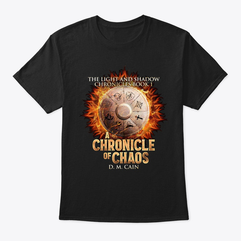 A Chronicle Of Chaos Black T-Shirt Front