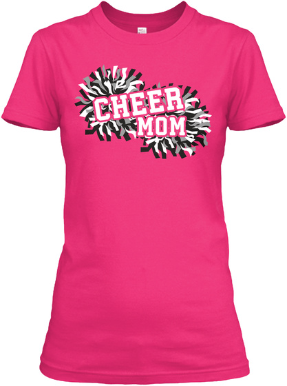 Cheer Mom Heliconia T-Shirt Front