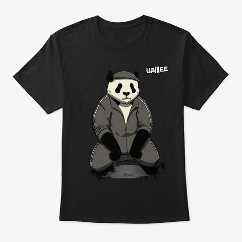 Bamboo Panda Black T-Shirt Front