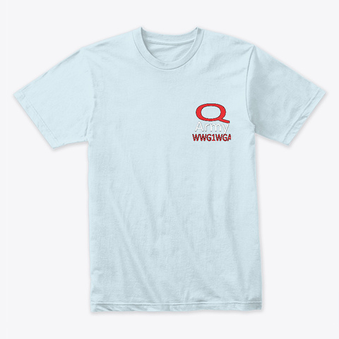 Q Army Light Blue T-Shirt Front