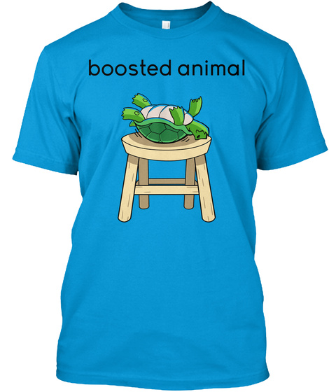 Boosted Animal Teal T-Shirt Front