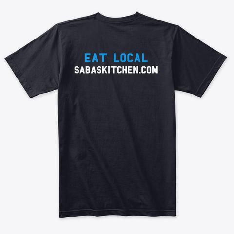 #Eatmorehummus Vintage Navy T-Shirt Back