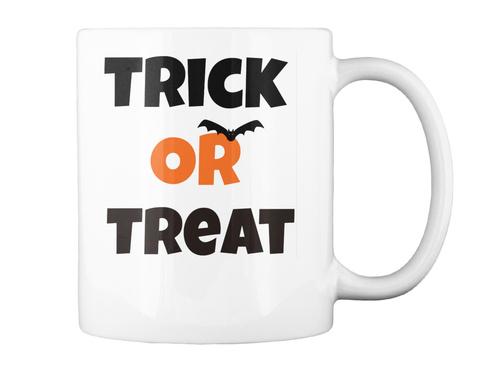 Trick Or Treat Halloween Mug White Mug Back