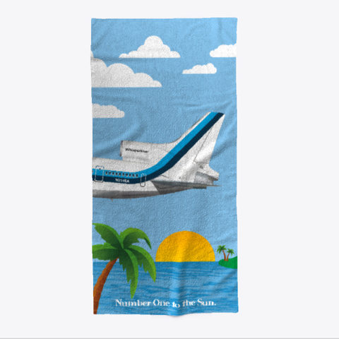 Number One To The Sun Beach Towel Light Blue T-Shirt Front