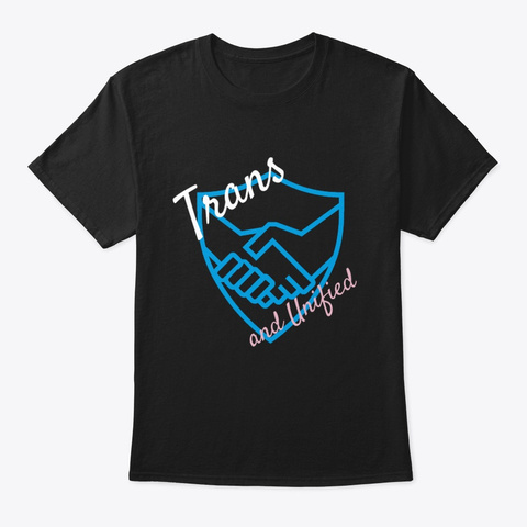 Trans And Unified Shield Black T-Shirt Front