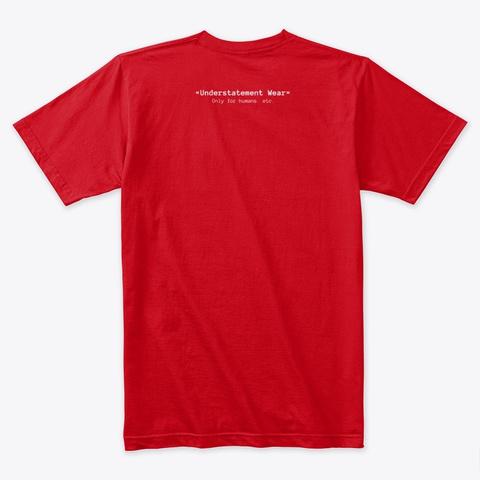 Make Design Great Again Red T-Shirt Back