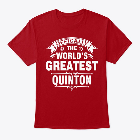 World's Best Quinton Gifts Deep Red T-Shirt Front