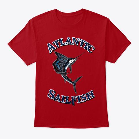 Atlantic Deep Sea  Fish Tee Shirt Deep Red T-Shirt Front