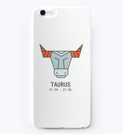 Zodiac Collection   Taurus White T-Shirt Front