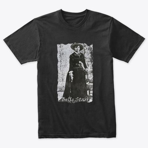 Outlaws, Belle Starr Vintage Black T-Shirt Front
