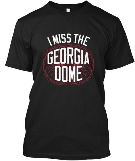 Naming Wrongs: Ga. Dome (Black) Black T-Shirt Front