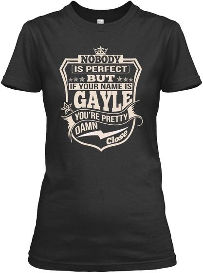 Nobody Perfect Gayle Thing Shirts Black T-Shirt Front