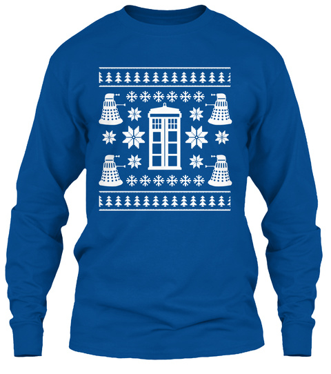 A Very Doctor Christmas Royal T-Shirt Front