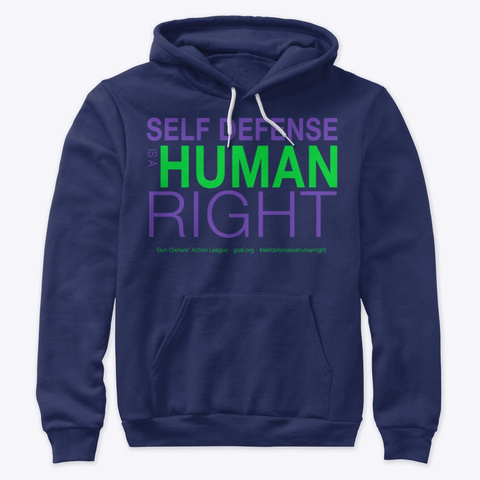 Self Defense Is A Human Right Navy T-Shirt Front
