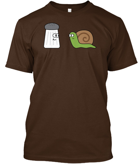 Salt And Snail Dark Chocolate T-Shirt Front