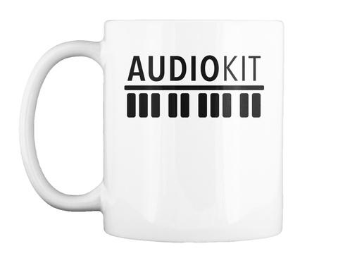 Audiokit White T-Shirt Front