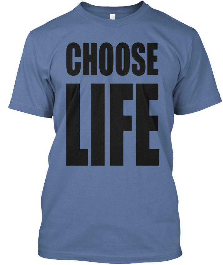 Choose-Life-Hanes-Tagless-Tee-T-Shirt thumbnail 11