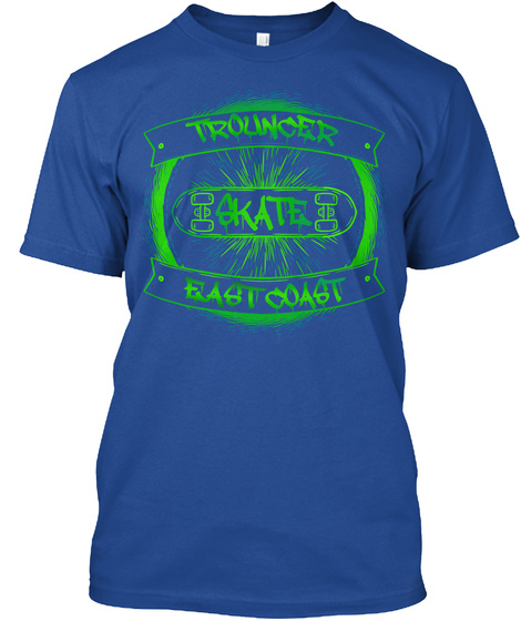 T Shirt Skateboarding East Coast Skate Deep Royal T-Shirt Front