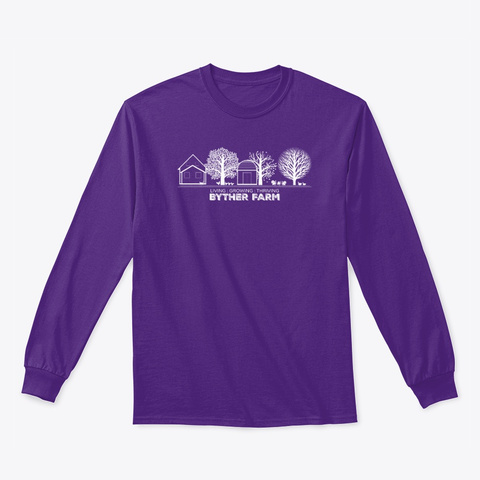 Classic Byther Farm  Purple T-Shirt Front