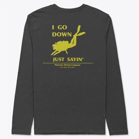 Pdc Long Sleeve Go Down Shirt Black T-Shirt Back