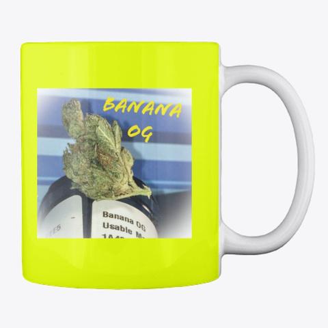 Duo Banana Cannabis Mug Neon Yellow Mug Back