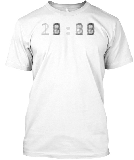Digit Time Overlay Black White T-Shirt Front