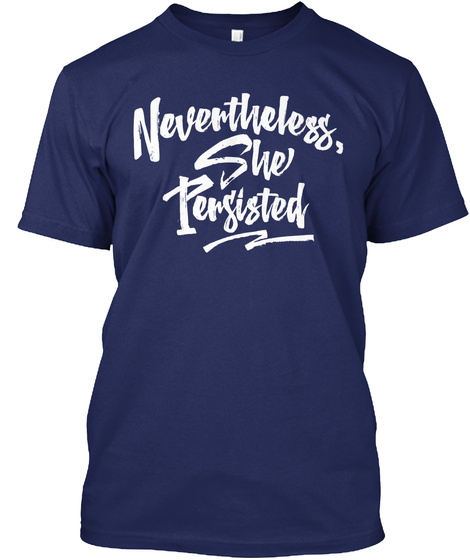 Nevertheless, She Persisted Navy Camiseta Front