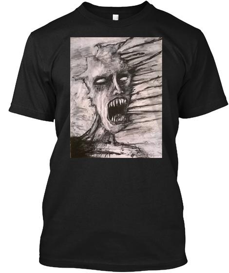 Zombie Skull By Jack Larson Black T-Shirt Front