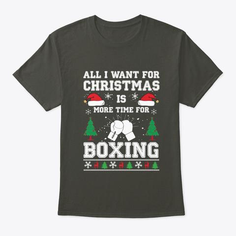 Christmas Shirt Kickboxing Sport Gym Tee Smoke Gray T-Shirt Front