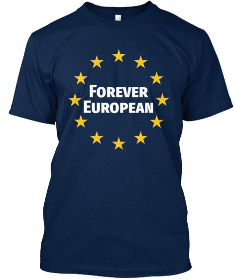 Forever European Navy T-Shirt Front