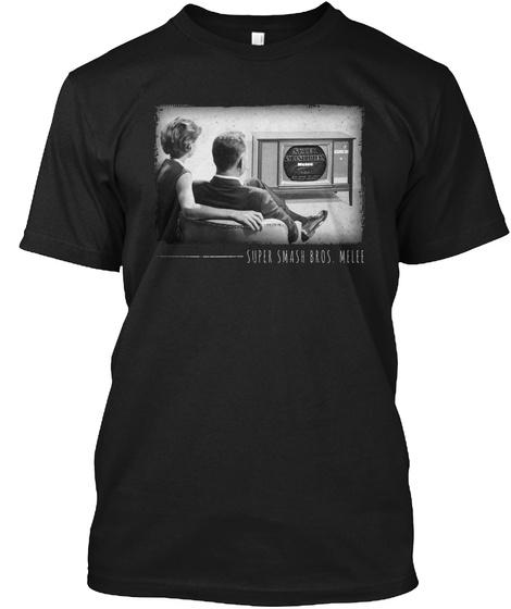 Super Smash Bros. Melee Black T-Shirt Front