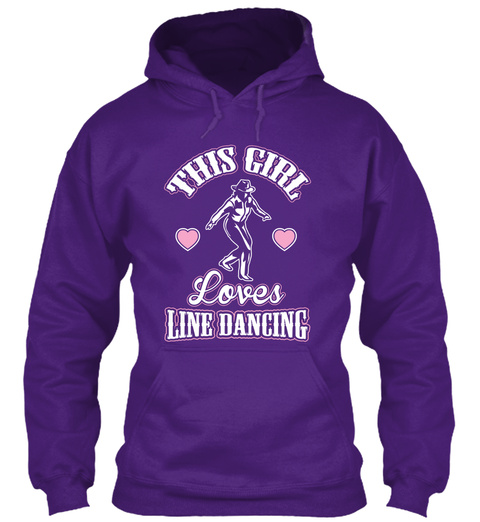 This Girl Loves Line Dancing Purple T-Shirt Front