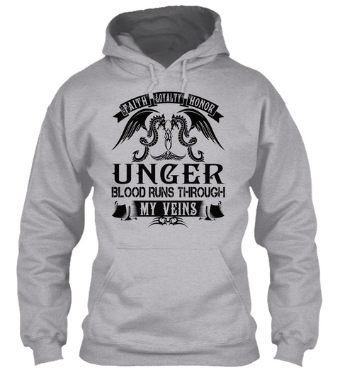 Unger   My Veins Name Shirts Sport Grey T-Shirt Front