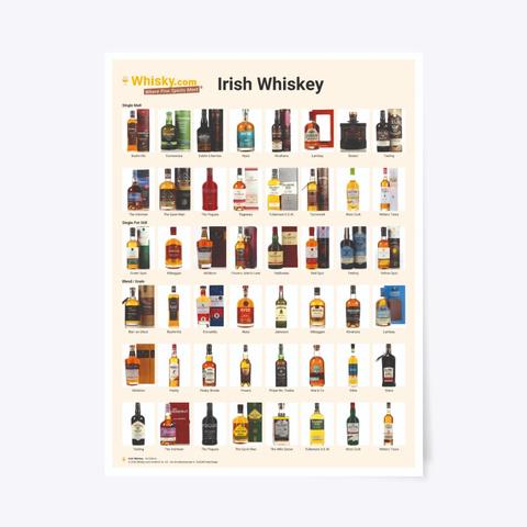 Poster Irish Whiskey 18x24 Standard T-Shirt Front