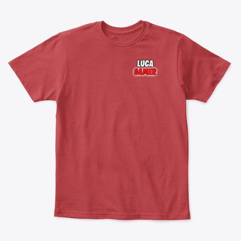T Shirt By Luca Gamer (Bambino) Classic Red T-Shirt Front