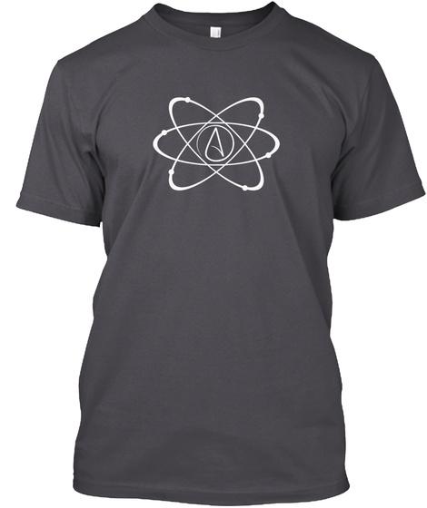 Atheism Atom Logo Asphalt T-Shirt Front