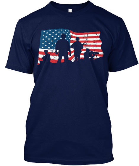 Veteran   Brothers Navy T-Shirt Front