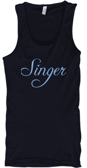 Singer Navy T-Shirt Front