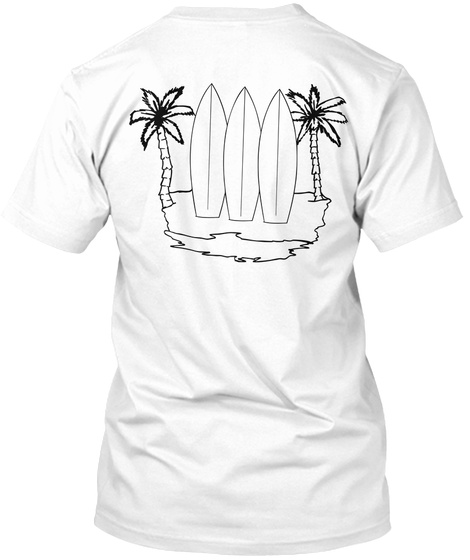 Grown Groms Palm Trees White T-Shirt Back