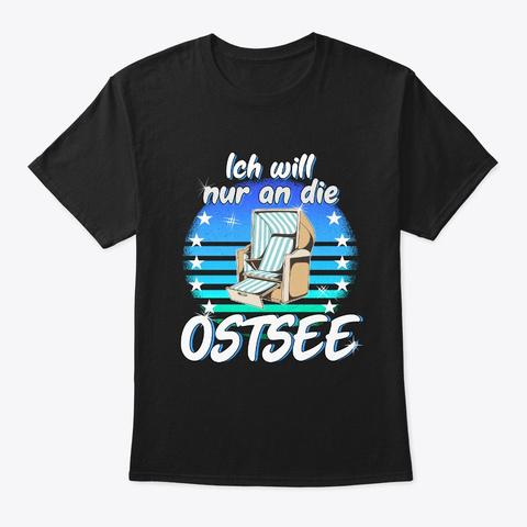 Baltic Sea Beach Chair Vacation Sea Beac Black T-Shirt Front