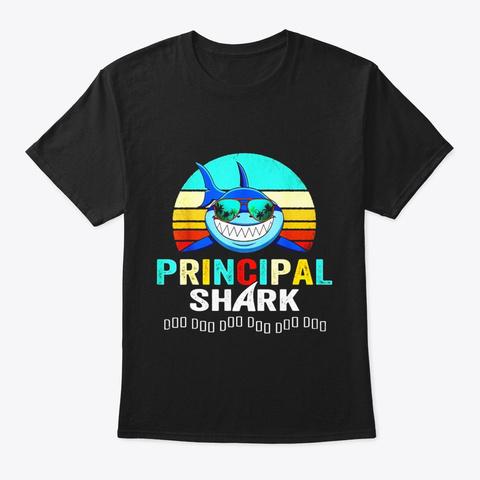 Principal Shark Shirt Black T-Shirt Front