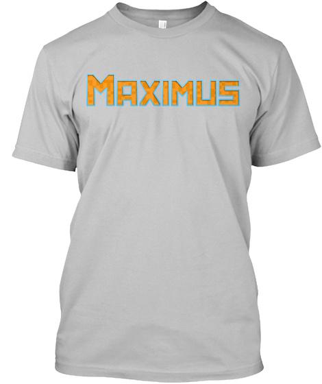 """T Shirt Standard  """"Maximus"""" Sport Grey T-Shirt Front"""