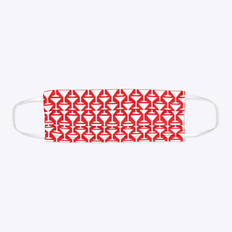 Cocktail Houndstooth Red T-Shirt Flat