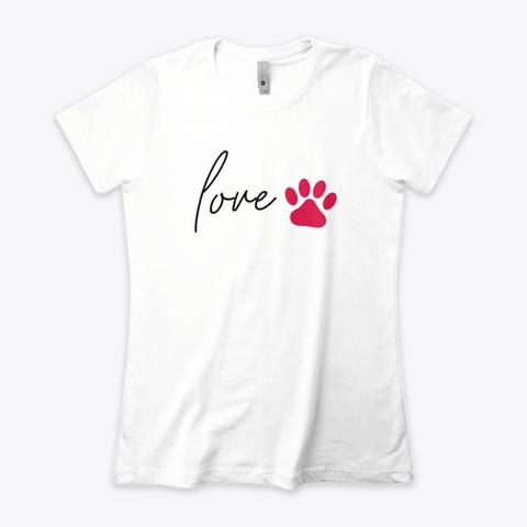 😘  Women's T Shirt, Love Pitbull White T-Shirt Front