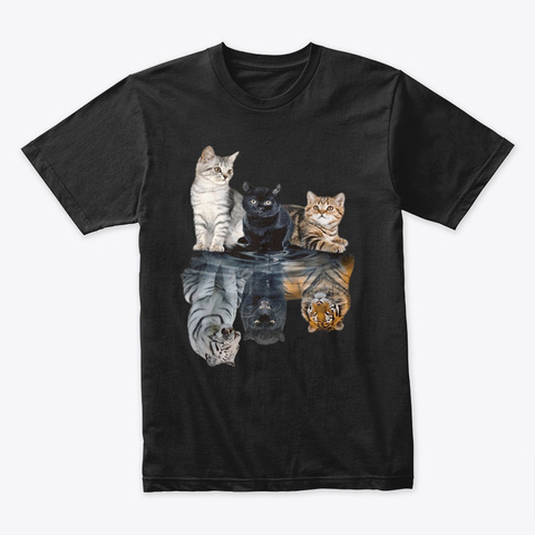 Awesome Cats Always In Yourself Black T-Shirt Front